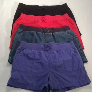 Faded Glory Shorts 4 Pairs